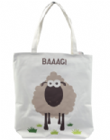 BAAAG Sheep Cotton Bag with Zip and Lining